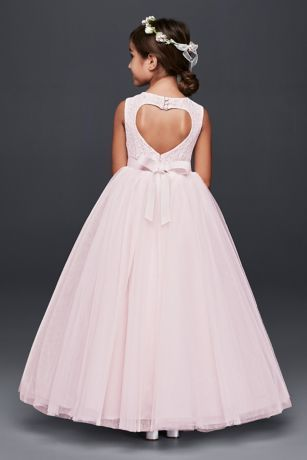 Ball Gown Flower Girl Dress with Heart Cutout Style RK1368