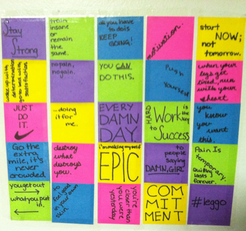 Quotes On Sticky Notes: Wall Of Sticky Notes With Inspirational Quotes