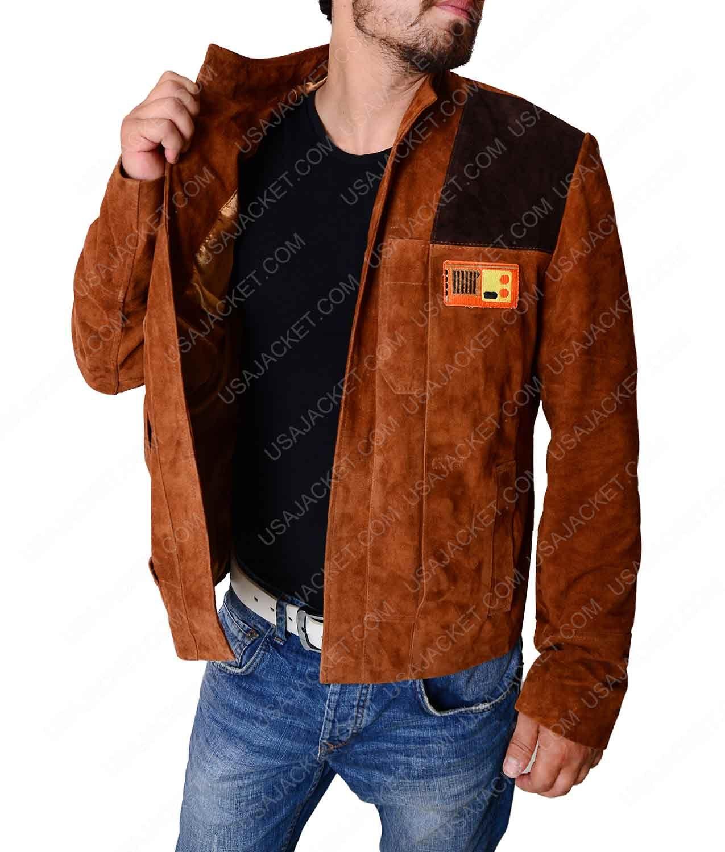 Solo A Star Wars Story Alden Enrenreich Han Solo Suede Jacket Distressed Leather Jacket Distressed Jacket Jackets [ 1500 x 1275 Pixel ]