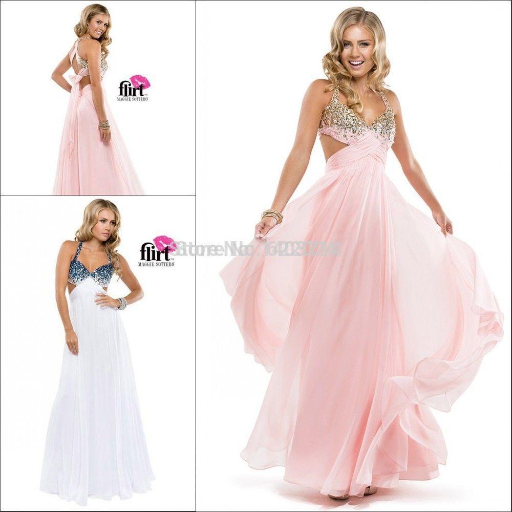 Prom dress- Ali express wd903 backless sexy flowy chiffon   Grad ...