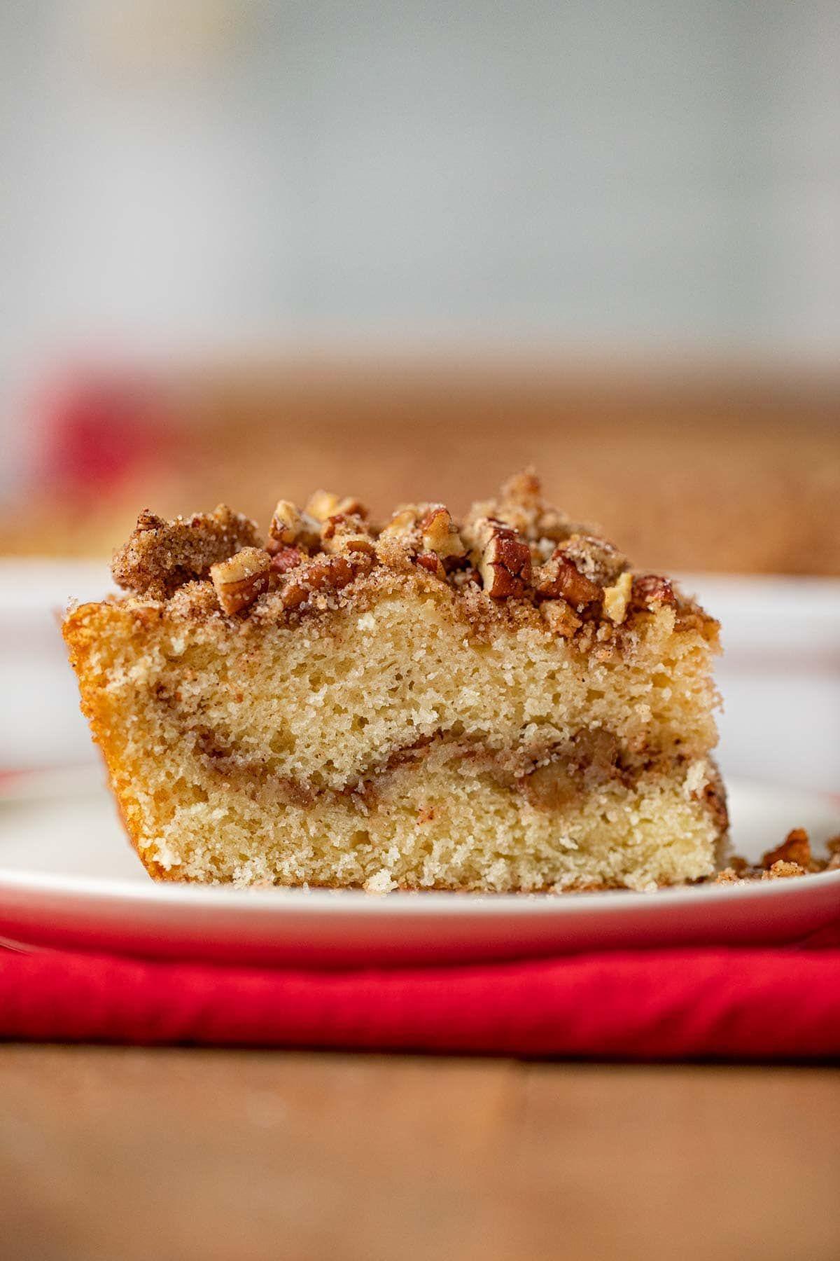 Sour Cream Coffee Cake Is The Easiest Classic Coffee Cake Recipe With Brown Sugar Pecan Streusel In 2020 Sour Cream Coffee Cake Coffee Cake Classic Coffee Cake Recipe