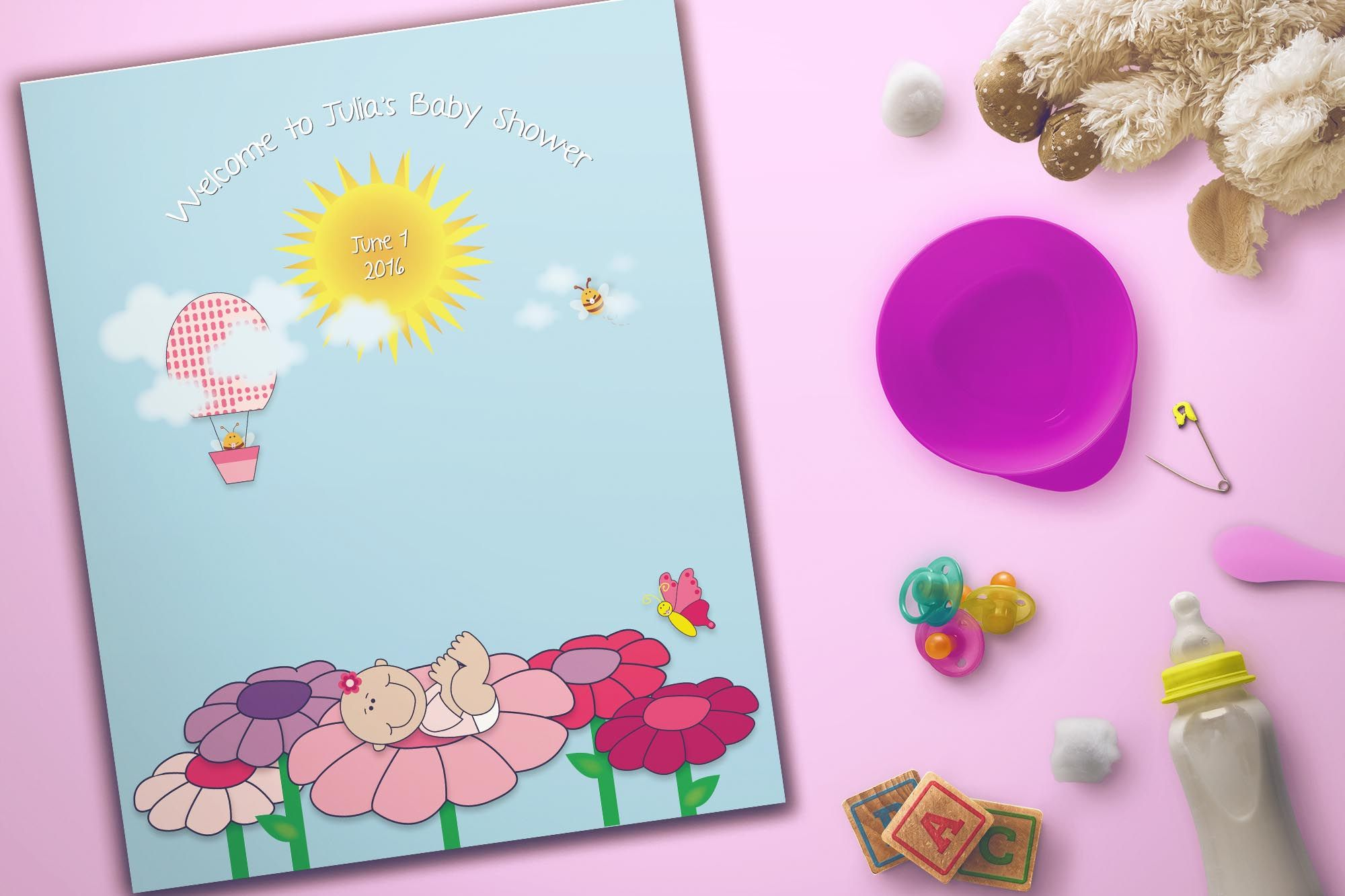 Baby Shower Guest Book Poster