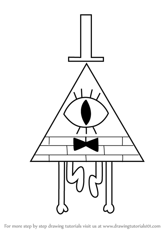 How To Draw Bill Cipher From Gravity Falls Drawingtutorials101 Com Gravity Falls Bill Gravity Falls Art Fall Drawings