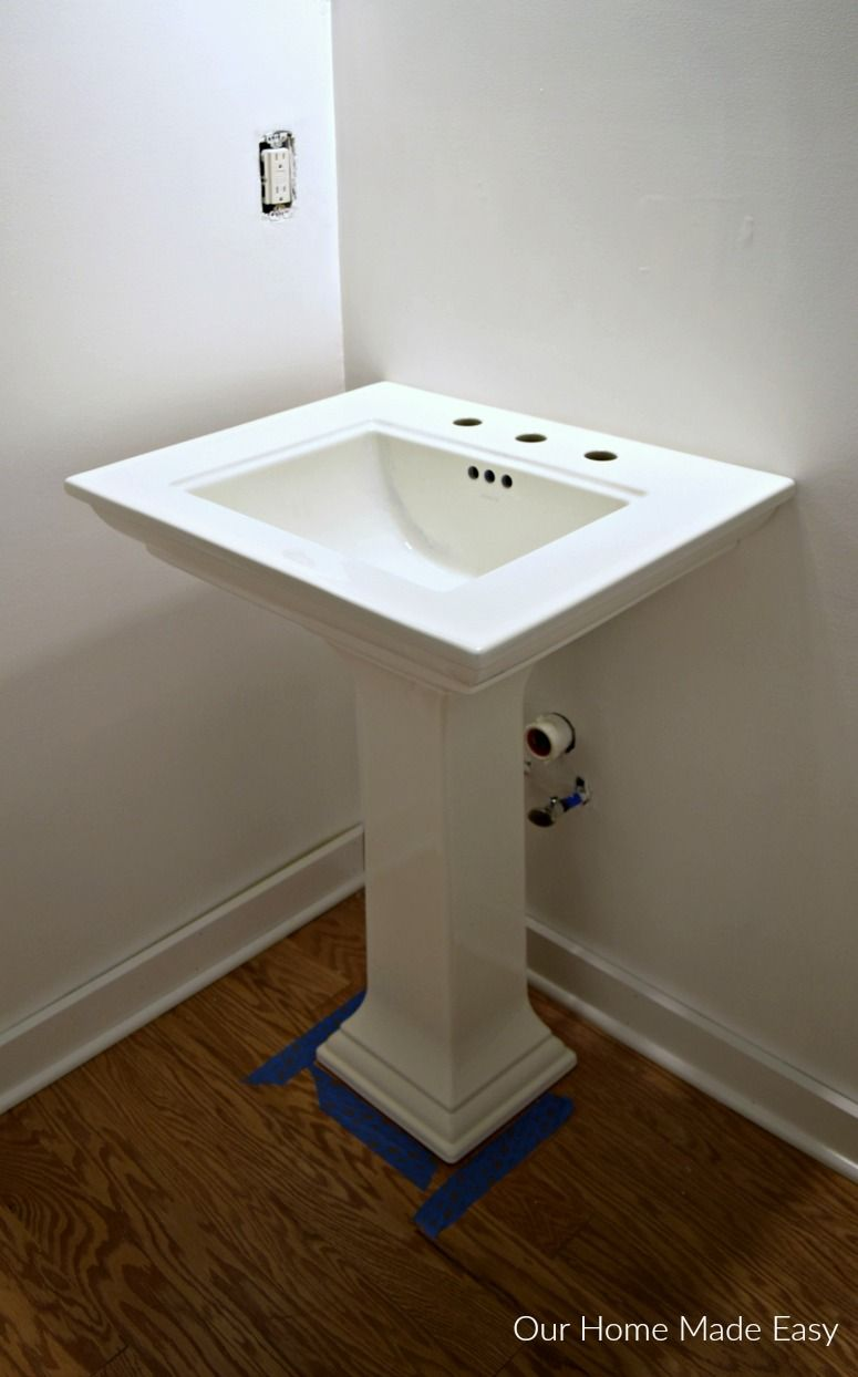 How To Install A Pedestal Sink Orc Week 3 Pedestal Sink Sink Powder Room Faucets