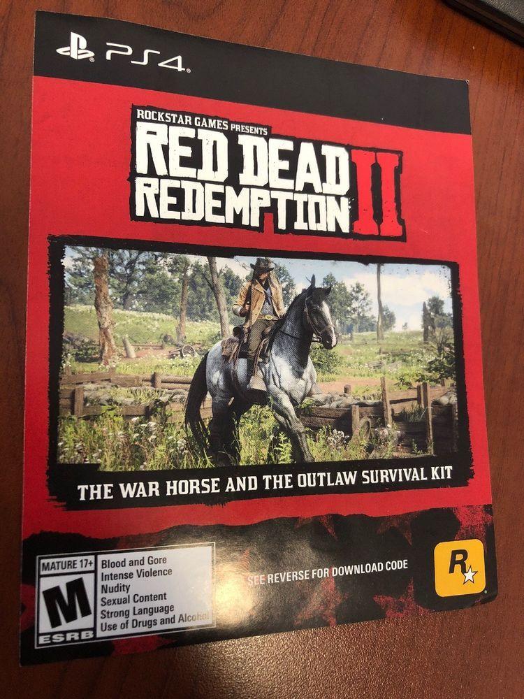 PS4 Red Dead Redemption 2 Preorder Bonus War Horse/Outlaw