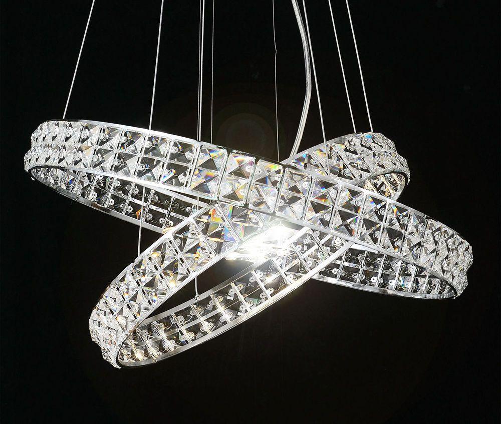 Ambitus 16w led cristallo design moderno lampadario for Lampadario moderno led