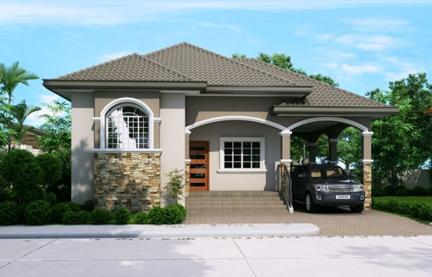Single story pinoy house plan floor area square meters also modern rh pinterest