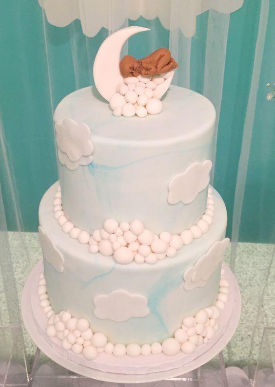 shimmering heaven sent baby shower cake shower ideas pinterest