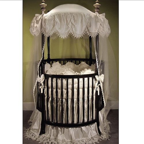 Antoinette Round Baby Bedding With Images Round Crib Bedding