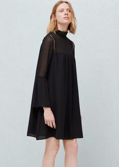 21876d815a52 Flared sleeves dress   MANGO   Outfits ideas   Pinterest