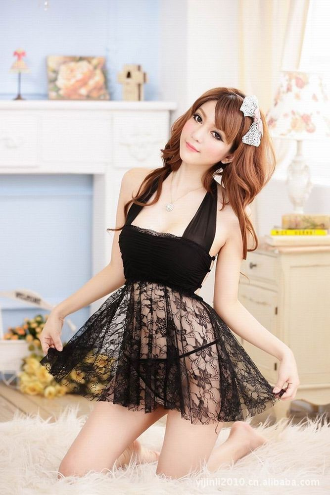 Sexy Babydoll Lingerie Underwear Sleepwear Uniform Temptation Club Party Dress