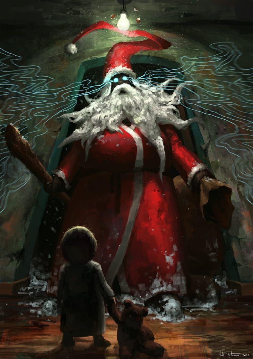 6 Evil Santa Claus Creepy Christmas Scary Christmas Santa Art