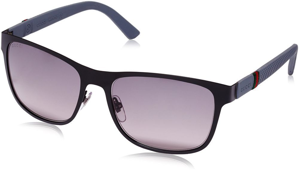 3a6f462bfb4 eBay  Sponsored Gucci sunglasses GG 2247 S 4VAEU Metal Matt Black - Grey  Grey