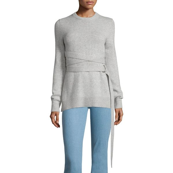 Michael Kors Collection Wrap-Belt Cashmere Sweater ($1,380 ...