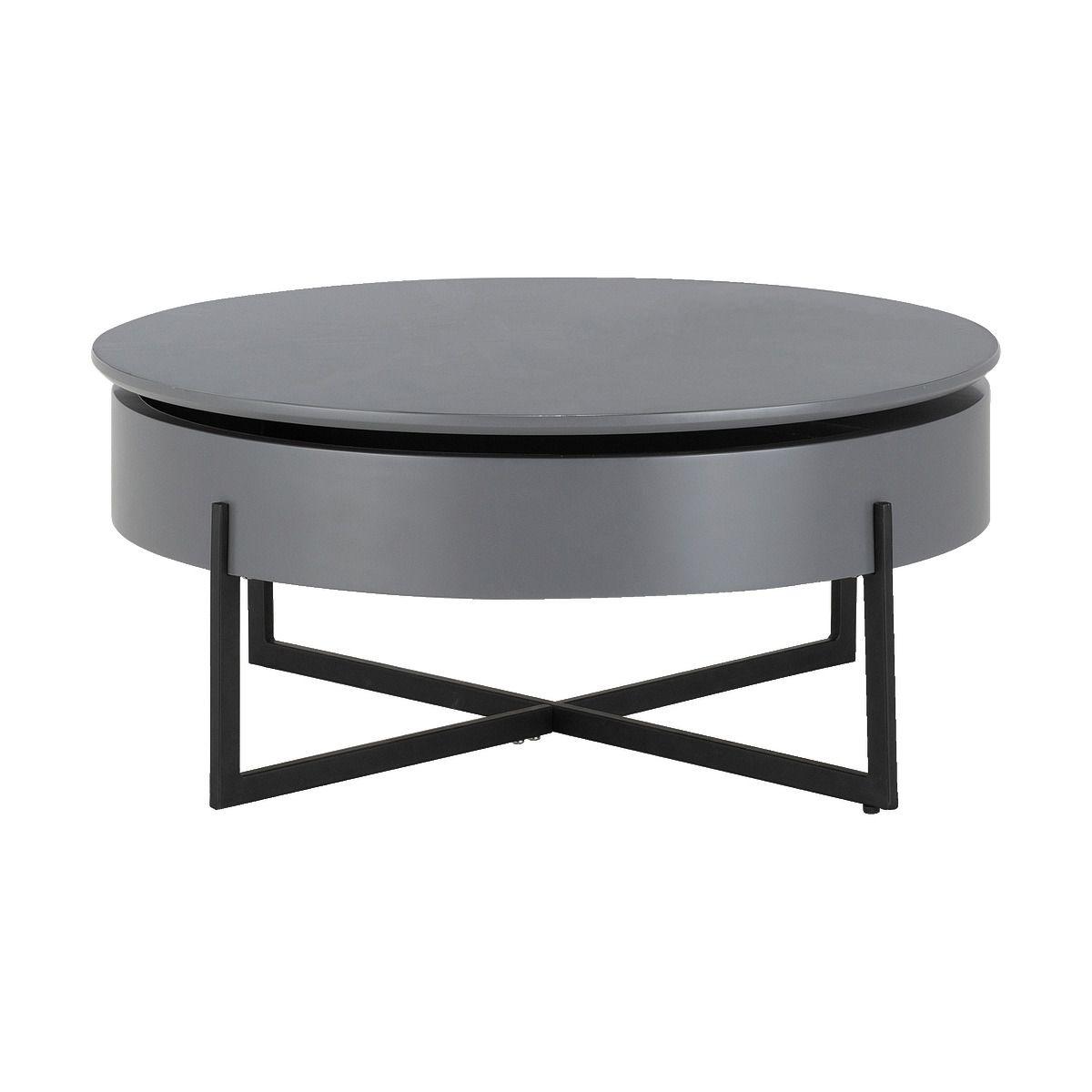 Mobilier Astucieux Une Table Basse Aux Courbes Douces Qui Devoile Sous Son Plateau Un Large Espace De Rangeme En 2020 Table Basse Table Basse Moderne