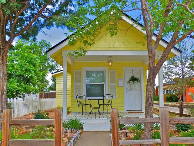10 Tiny Vacation Homes You Can Rent Tiny Cottage Tiny Houses For Rent Yellow Cottage