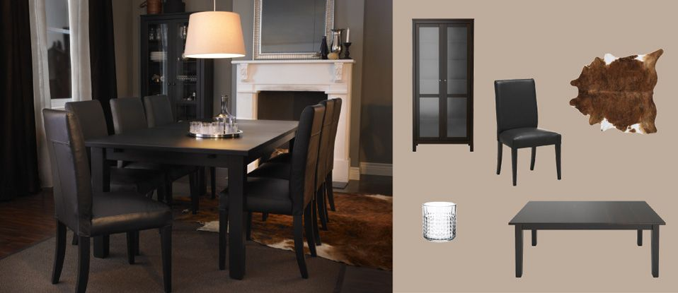 Formal Dining Room....STORNÄS Brown-black Extendable Table