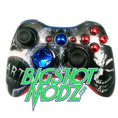 "#Custom #Xbox 360 17 Mode Rapid Fire #Controller DARTH ""Reaper Status""! #CustomXboxController Perfect #gift idea #gamer #geek #nerd #sexy #gamer www.BigShotModz.com"
