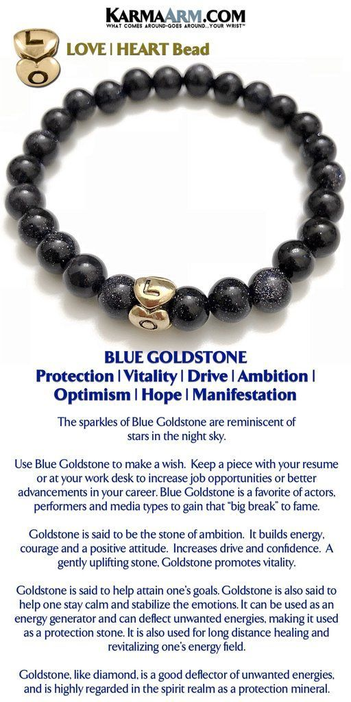 DREAM LOVER Blue Goldstone Love Bead Yoga Chakra Bracelet - resume generator