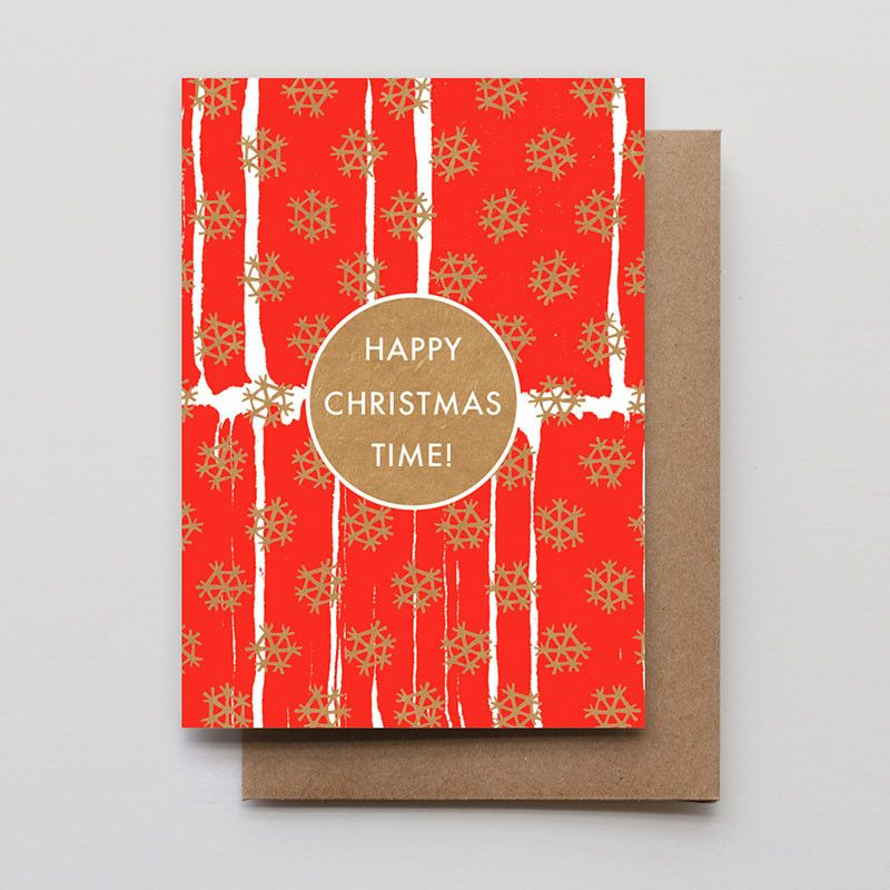 Happy Christmas Time Letterpress Holiday Card Boxed Set
