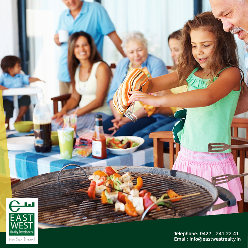 Get to know your neighbours during your weekends over a barbeque meal on the terrace!  #BalramEnclave #LuxuryTerrace.   http://www.eastwestrealty.in/balram-enclave.php Contact us at 91 9444446643; for any queries, mail us at info@eastwestrealty.in