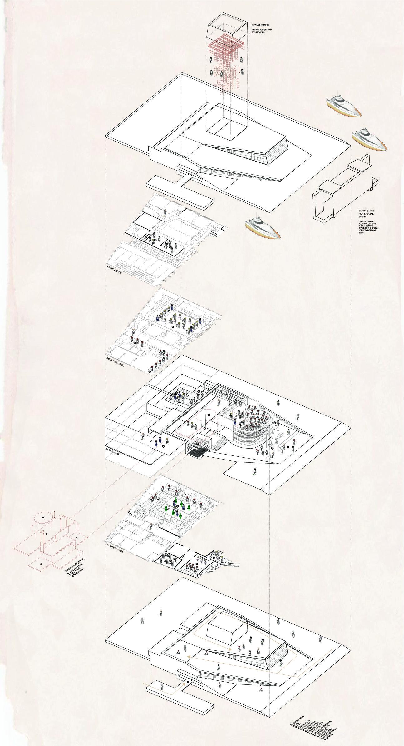 Mew Praewa Samachai Isometric detail of oslo opera house