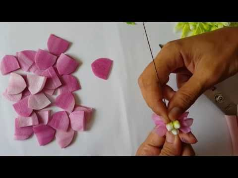 garland step by step  YouTube is part of Flower jewelry diy -