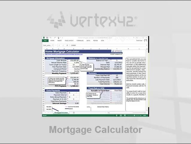 Free Home Mortgage Calculator For Excel Mortgage Amortization
