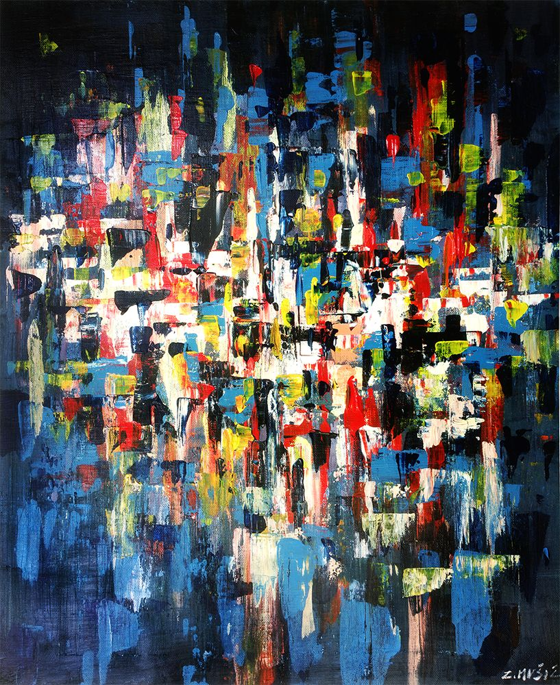 de67169b1 Beneath the surface, abstract landscape painting   Contemporary Art ...