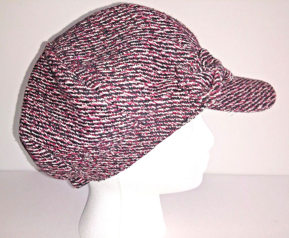 d6419f5c ELLEN TRACY Hat Cap Womens Cabbie Newsboy Red Black And White Lined  Packable #fashion #clothing #shoes #accessories #womensaccessories #hats  (ebay link)