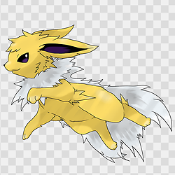 Mega Jolteon is my favorite. My favorite move to use with him is Charge Beam.