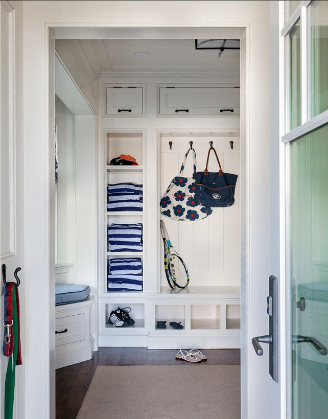 Mudroom design great storage ideas are found in this - Benjamin moore swimming pool paint 042 ...