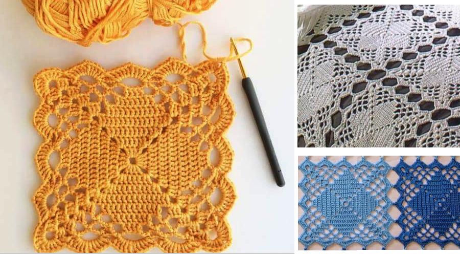 motivo-en-crochet-con-patron | Motivos a crochet. | Pinterest ...