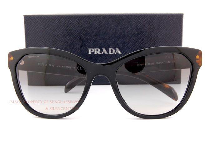 00ab8f932c19 ... top quality brand new prada sunglasses pr 21ss 1ab 0a7 black gray  gradient women 271cc a5557