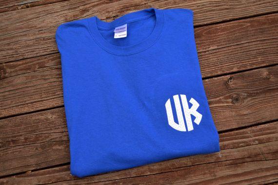 University of kentucky monogram appliqué shirt on etsy $20.00