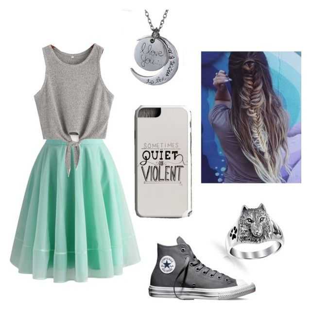 """""""Summertime"""" by pam-casner ❤ liked on Polyvore featuring Chicwish, Converse, Samsung and Bling Jewelry"""