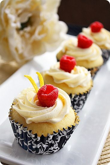 Lemon Cupcakes with Limoncello-Cream Cheese Frosting | The Comfort of Cooking