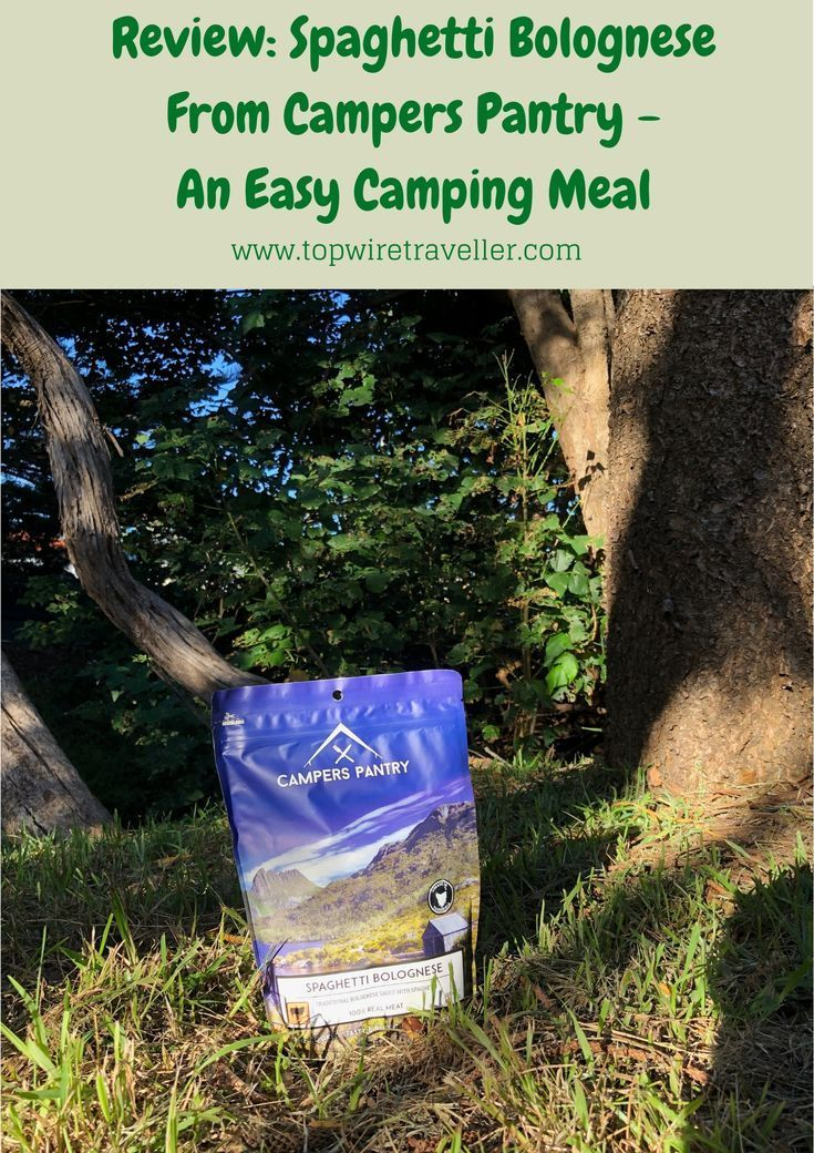 Review: Spaghetti Bolognese From Campers Pantry | Camping Meals Review: Spaghetti Bolognese From Ca