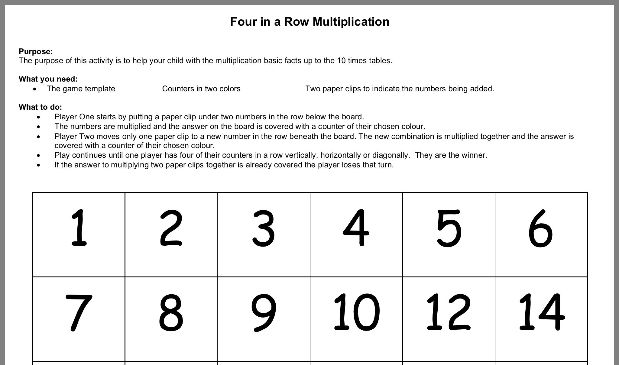 Pin By Leesa Martins On Multiplication In