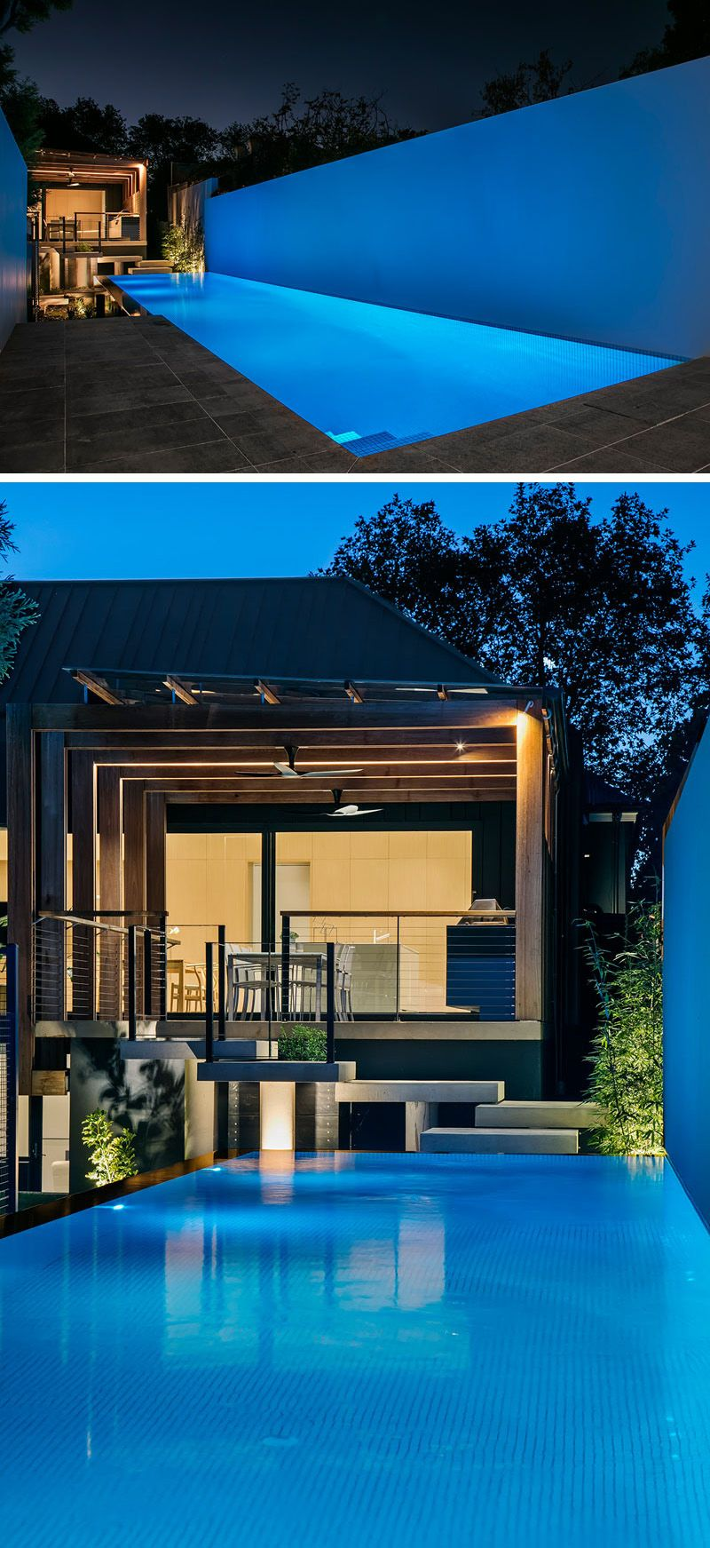This House Extension Has A Modern Pergola That Leads To A Swimming Pool Modern Pools Pool Patio Designs Modern Pergola