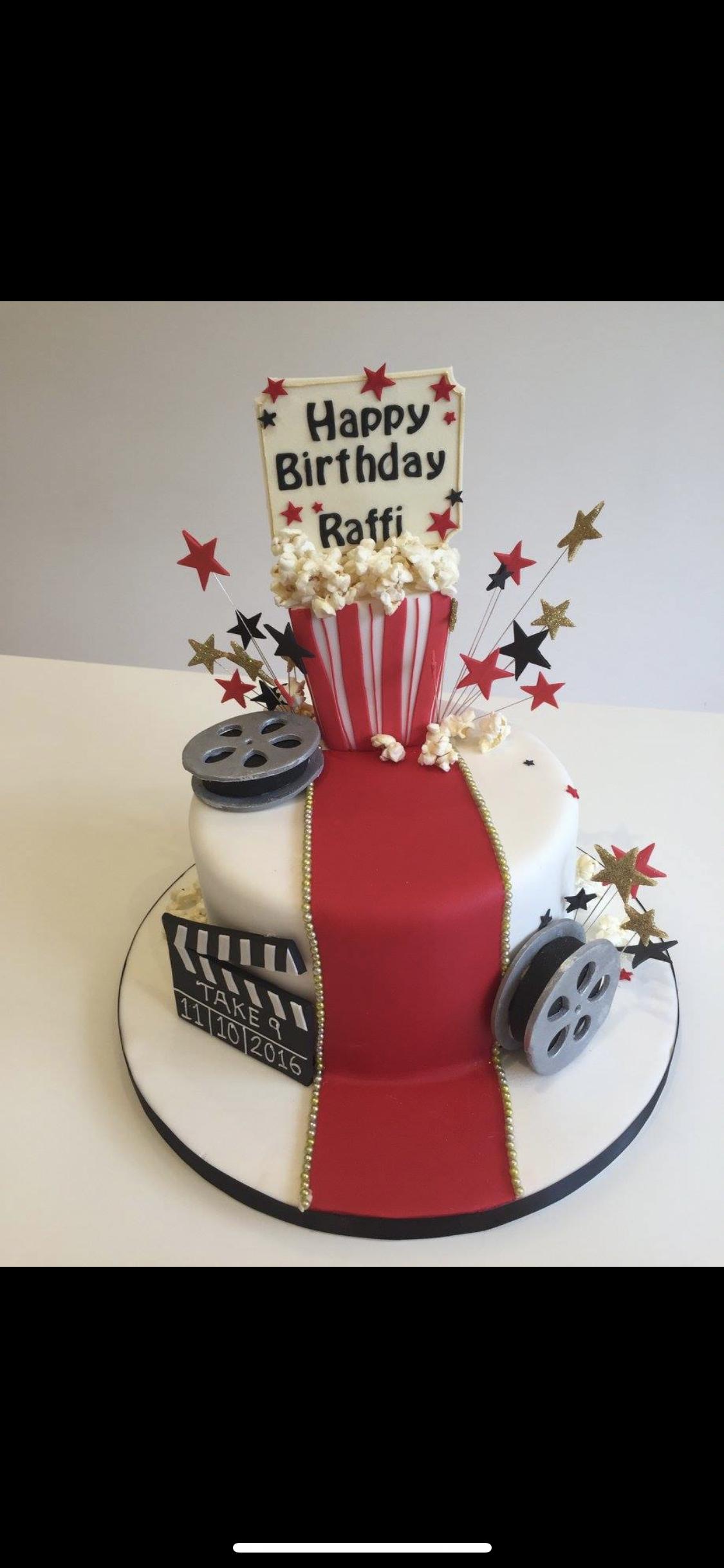 Excellent Ninth Birthday Film Buff Cinema Fan Movie Cake By Dees Creative Funny Birthday Cards Online Alyptdamsfinfo