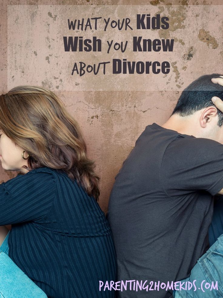 The hardest thing about divorce is worrying about how it