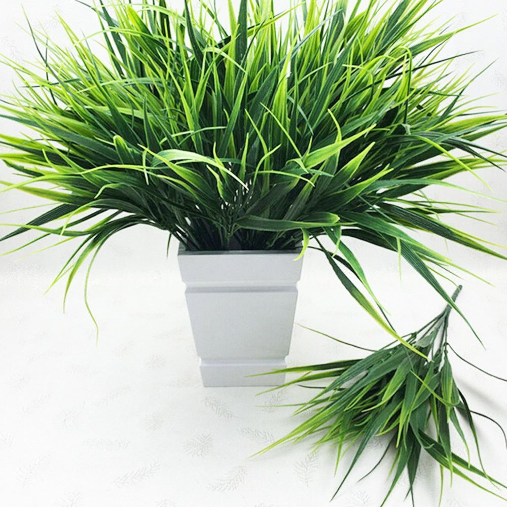cheap office plants. 7-fork Green Grass Artificial Plants, For Plastic Flowers Household Store Office Desk Rustic Cheap Plants P