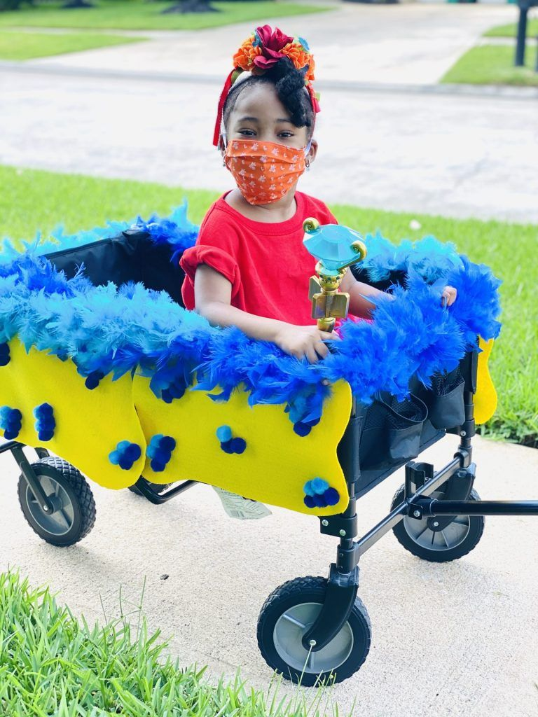 2020 Halloween Trick Or Treat Party City Wagon Decor For Trick or Treating #halloween2020 #partycity