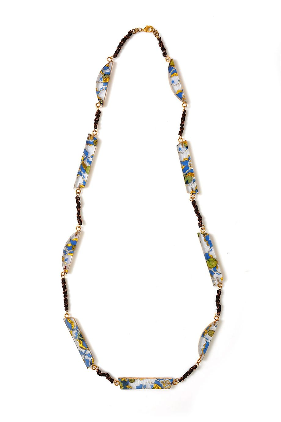 Axel Accessories : ESHOP WOOD.NECKLACE W/9 LONG MUTLICOLOR BEADS