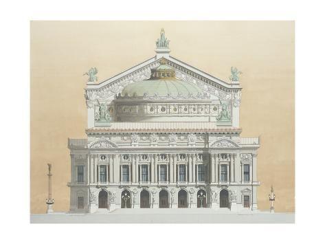 'Opera Garnier, Paris, France, 1990' Giclee Print - Andras Kaldor   Art.com