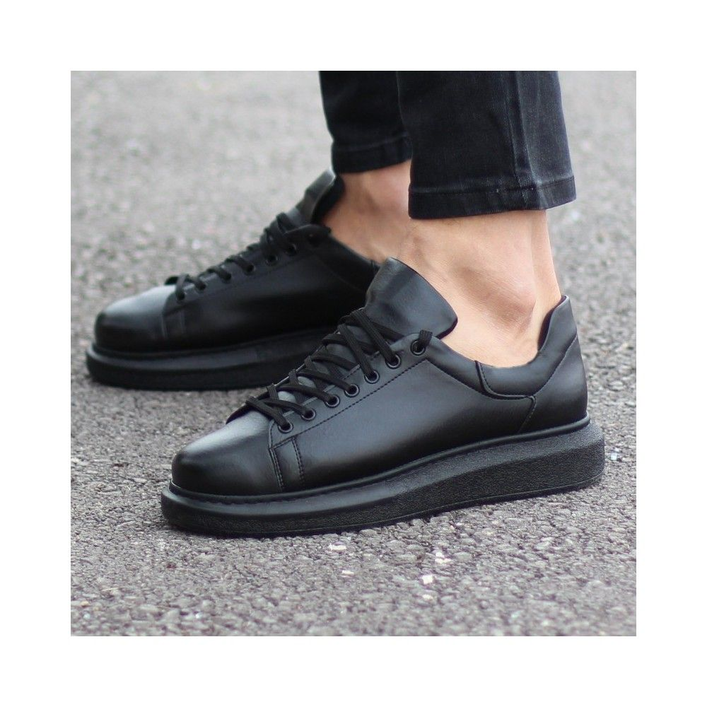 Casual Shoes With High Sole Black