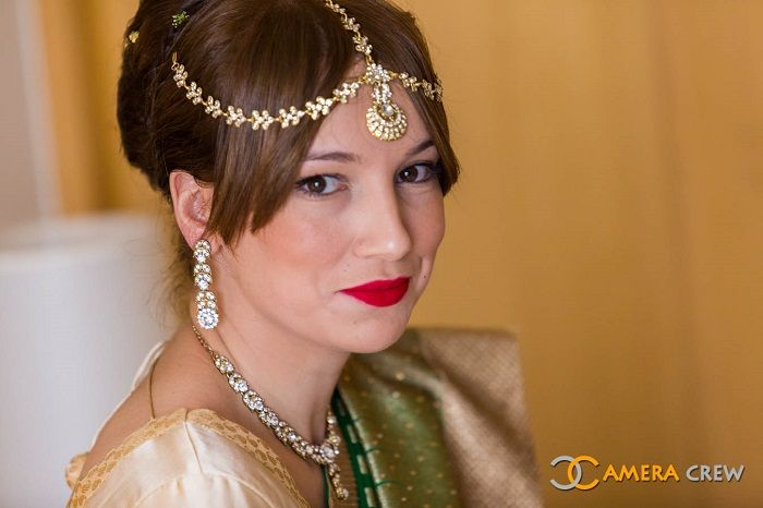 Traditional Yet Elegant Wedding Hairstyle With Simple Hair Accessories HairstylesIndian Bridal