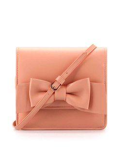 Bow Embellished Clutch pinkETJY0362PK