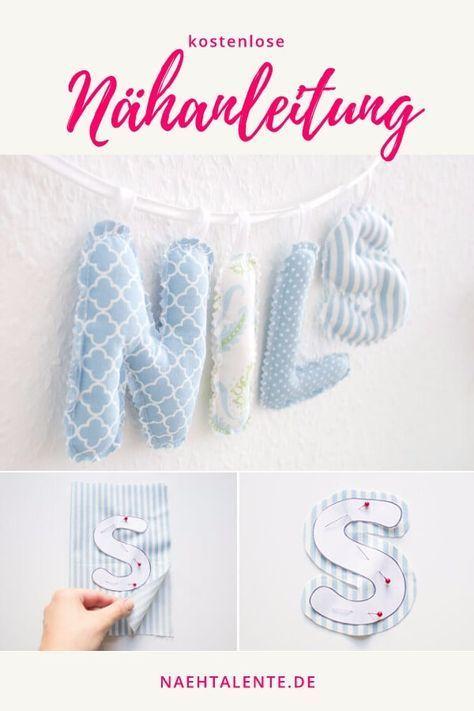 Buchstabenkette für das Kinderzimmer - Nähanleitung | Nähtalente #baby